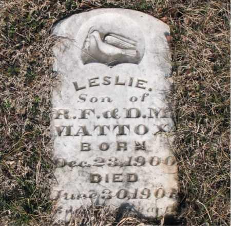 MATTOX, LESLIE - Carroll County, Arkansas | LESLIE MATTOX - Arkansas Gravestone Photos