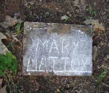 MATTOX, MARY - Carroll County, Arkansas | MARY MATTOX - Arkansas Gravestone Photos