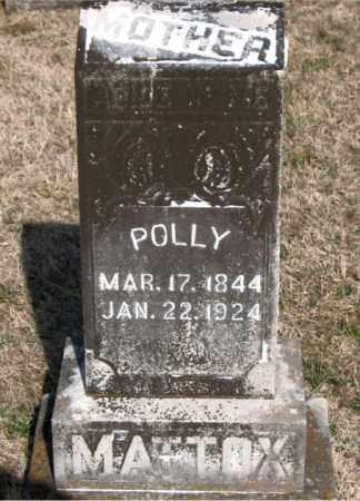 MATTOX, POLLY - Carroll County, Arkansas | POLLY MATTOX - Arkansas Gravestone Photos