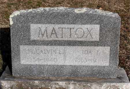 MATTOX, CALVIN L, REV - Carroll County, Arkansas | CALVIN L, REV MATTOX - Arkansas Gravestone Photos