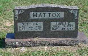MATTOX, RUFUS D - Carroll County, Arkansas | RUFUS D MATTOX - Arkansas Gravestone Photos