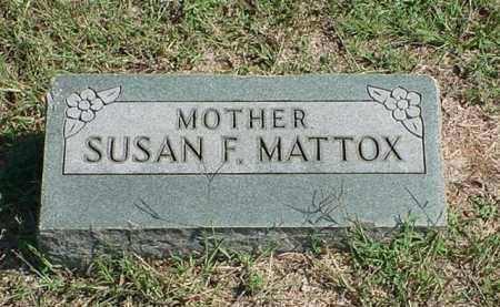 MATTOX, SUSAN F - Carroll County, Arkansas | SUSAN F MATTOX - Arkansas Gravestone Photos