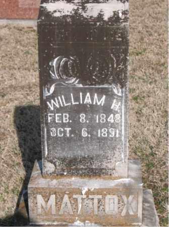 MATTOX, WILLIAM H - Carroll County, Arkansas | WILLIAM H MATTOX - Arkansas Gravestone Photos