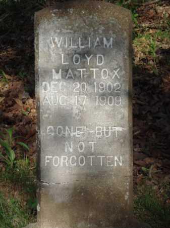 MATTOX, WILLIAM LOYD - Carroll County, Arkansas | WILLIAM LOYD MATTOX - Arkansas Gravestone Photos