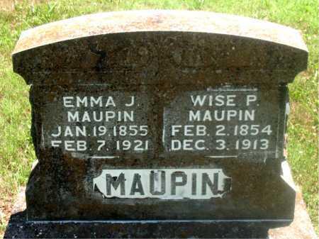 MAUPIN, EMMA J - Carroll County, Arkansas | EMMA J MAUPIN - Arkansas Gravestone Photos