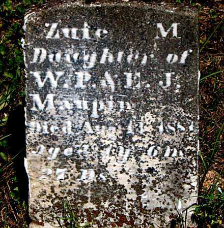 MAUPIN, ZUTE M - Carroll County, Arkansas | ZUTE M MAUPIN - Arkansas Gravestone Photos