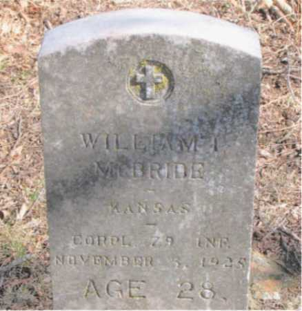 MCBRIDE  (VETERAN WWI), WILLIAM I. - Carroll County, Arkansas | WILLIAM I. MCBRIDE  (VETERAN WWI) - Arkansas Gravestone Photos
