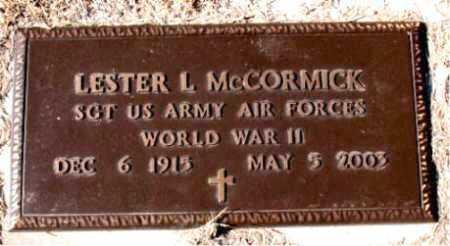 MCCORMICK  (VETERAN WWII), LESTER L. - Carroll County, Arkansas   LESTER L. MCCORMICK  (VETERAN WWII) - Arkansas Gravestone Photos
