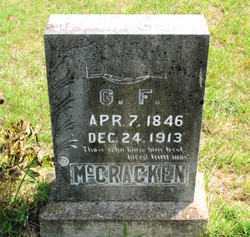 MCCRACKEN, G.  F. - Carroll County, Arkansas | G.  F. MCCRACKEN - Arkansas Gravestone Photos