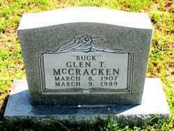 MCCRACKEN, GLEN  T.    (BUCK) - Carroll County, Arkansas | GLEN  T.    (BUCK) MCCRACKEN - Arkansas Gravestone Photos