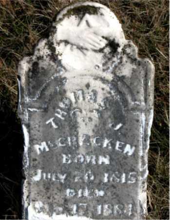 MCCRACKEN, THOMAS J. - Carroll County, Arkansas | THOMAS J. MCCRACKEN - Arkansas Gravestone Photos