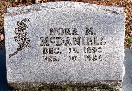 MCDANIELS, NORA M. - Carroll County, Arkansas | NORA M. MCDANIELS - Arkansas Gravestone Photos