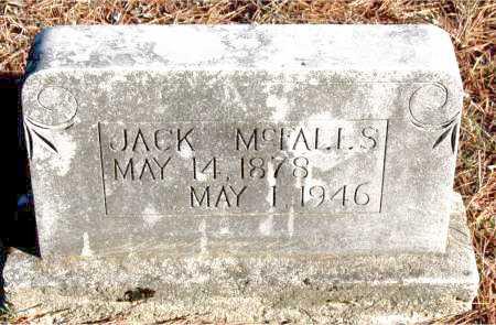 MCFALLS, JACK - Carroll County, Arkansas   JACK MCFALLS - Arkansas Gravestone Photos