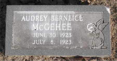 MCGEHEE, AUDREY  BERNEICE - Carroll County, Arkansas | AUDREY  BERNEICE MCGEHEE - Arkansas Gravestone Photos