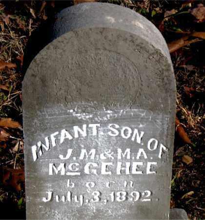 MCGEHEE, INFANT SON - Carroll County, Arkansas | INFANT SON MCGEHEE - Arkansas Gravestone Photos