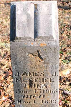 MCGEHEE, JAMES J. - Carroll County, Arkansas   JAMES J. MCGEHEE - Arkansas Gravestone Photos