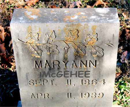 MCGEHEE, MARY ANN - Carroll County, Arkansas | MARY ANN MCGEHEE - Arkansas Gravestone Photos