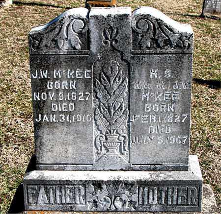 MCKEE, M S - Carroll County, Arkansas   M S MCKEE - Arkansas Gravestone Photos