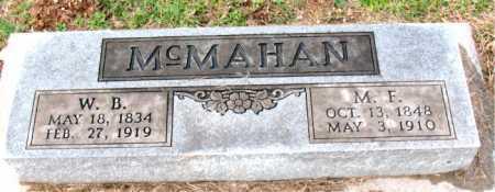 MCMAHAN, W.  B. - Carroll County, Arkansas | W.  B. MCMAHAN - Arkansas Gravestone Photos