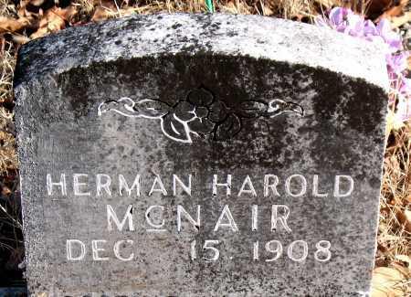 MCNAIR, HERMAN HAROLD - Carroll County, Arkansas | HERMAN HAROLD MCNAIR - Arkansas Gravestone Photos