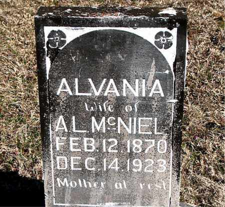 MCNIEL, ALVANIA - Carroll County, Arkansas | ALVANIA MCNIEL - Arkansas Gravestone Photos