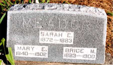 MEADOR, MARY E. - Carroll County, Arkansas | MARY E. MEADOR - Arkansas Gravestone Photos