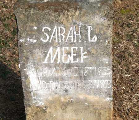 MEEK, SARAH L. - Carroll County, Arkansas   SARAH L. MEEK - Arkansas Gravestone Photos