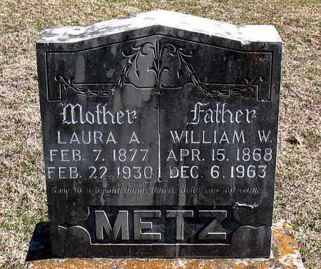 METZ, WILLIAM  W - Carroll County, Arkansas | WILLIAM  W METZ - Arkansas Gravestone Photos