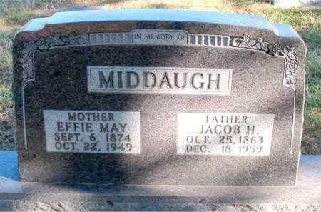 MIDDAUGH, EFFIE MAY - Carroll County, Arkansas | EFFIE MAY MIDDAUGH - Arkansas Gravestone Photos