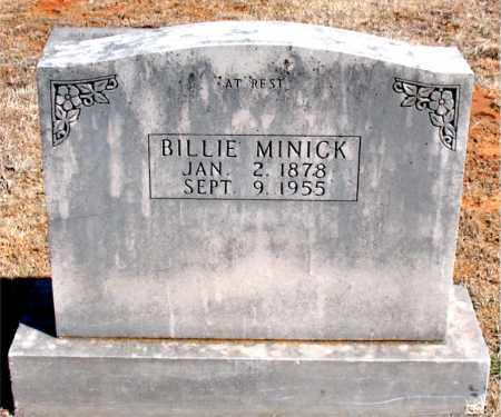 MINICK, BILLIE - Carroll County, Arkansas | BILLIE MINICK - Arkansas Gravestone Photos