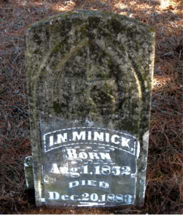 MINICK, I.  N. - Carroll County, Arkansas | I.  N. MINICK - Arkansas Gravestone Photos