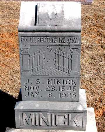MINICK (VETERAN UNION), JOSEPH S - Carroll County, Arkansas | JOSEPH S MINICK (VETERAN UNION) - Arkansas Gravestone Photos