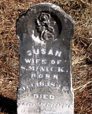 MINICK, SUSAN - Carroll County, Arkansas | SUSAN MINICK - Arkansas Gravestone Photos