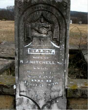 MITCHELL, ELLEN - Carroll County, Arkansas   ELLEN MITCHELL - Arkansas Gravestone Photos
