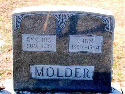 MOLDER, CYNTHIA - Carroll County, Arkansas | CYNTHIA MOLDER - Arkansas Gravestone Photos