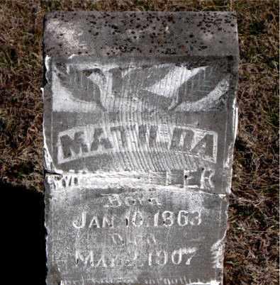 MOLDER, MATILDA - Carroll County, Arkansas   MATILDA MOLDER - Arkansas Gravestone Photos