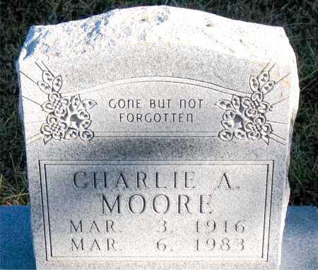 MOORE, CHARLIE A. - Carroll County, Arkansas   CHARLIE A. MOORE - Arkansas Gravestone Photos