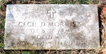 MORRIS, SR (VETERAN WWII), CECIL D - Carroll County, Arkansas | CECIL D MORRIS, SR (VETERAN WWII) - Arkansas Gravestone Photos