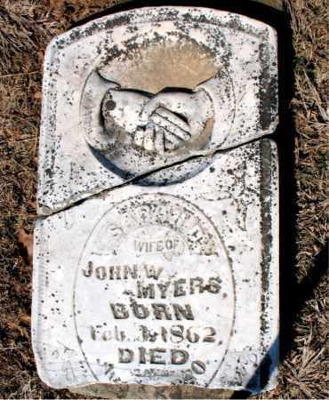 MYERS, JOHN W. - Carroll County, Arkansas | JOHN W. MYERS - Arkansas Gravestone Photos