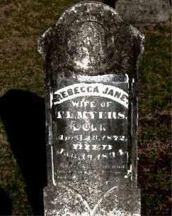 MYERS, REBECCA JANE - Carroll County, Arkansas | REBECCA JANE MYERS - Arkansas Gravestone Photos