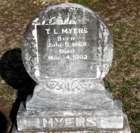 MYERS, T L - Carroll County, Arkansas | T L MYERS - Arkansas Gravestone Photos
