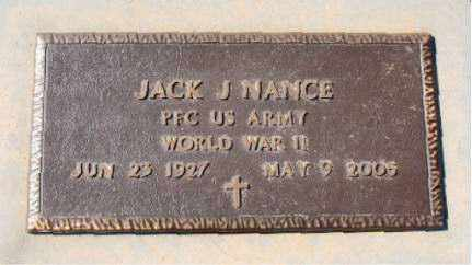 NANCE  (VETERAN WWII), JACK  J - Carroll County, Arkansas | JACK  J NANCE  (VETERAN WWII) - Arkansas Gravestone Photos