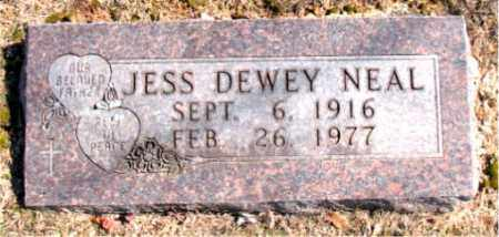 NEAL, JESS DEWEY - Carroll County, Arkansas   JESS DEWEY NEAL - Arkansas Gravestone Photos