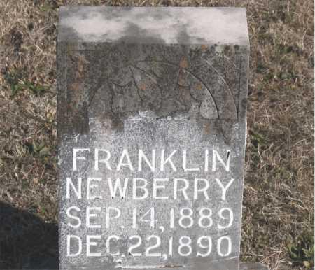 NEWBERRY, FRANKLIN - Carroll County, Arkansas | FRANKLIN NEWBERRY - Arkansas Gravestone Photos
