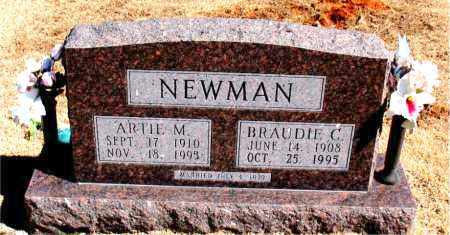NEWMAN, BRAUDIE C. - Carroll County, Arkansas | BRAUDIE C. NEWMAN - Arkansas Gravestone Photos