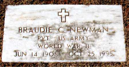 NEWMAN (VETERAN WWII), BRAUDIE C - Carroll County, Arkansas | BRAUDIE C NEWMAN (VETERAN WWII) - Arkansas Gravestone Photos