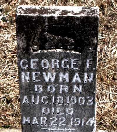 NEWMAN, GEORGE F. - Carroll County, Arkansas | GEORGE F. NEWMAN - Arkansas Gravestone Photos