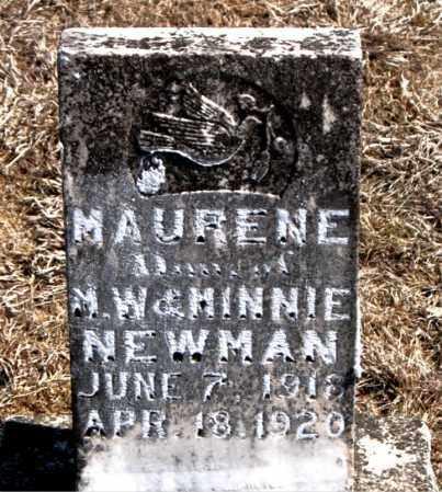 NEWMAN, MAURENE - Carroll County, Arkansas   MAURENE NEWMAN - Arkansas Gravestone Photos