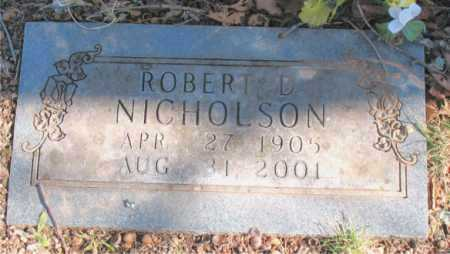 NICHOLSON, ROBERT D - Carroll County, Arkansas | ROBERT D NICHOLSON - Arkansas Gravestone Photos