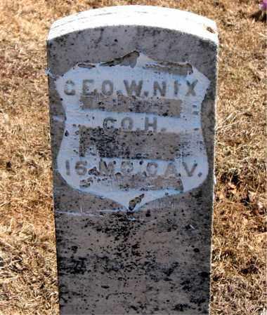NIX (VETERAN UNION), GEORGE W - Carroll County, Arkansas | GEORGE W NIX (VETERAN UNION) - Arkansas Gravestone Photos